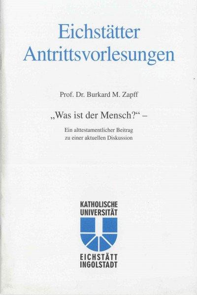 AV Band 11 - Burkard M. Zapff - Was ist der Mensch ?