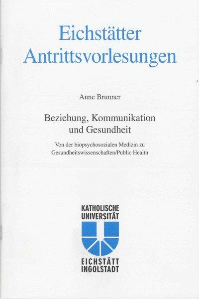AV Band 10 - Anne Brunner - Beziehung, Kommunikation und Gesundheit