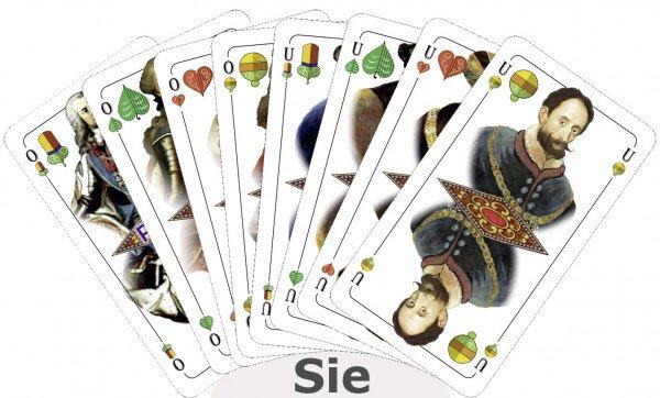 """Schafkopfkarten mit dem """"Feldmochinger Kartenbild"""" (Premium Leinen)"""