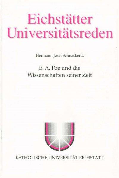 Band 101 - Josef Schnackertz - E.A. Poe und die Wissenschaften seiner Zeit
