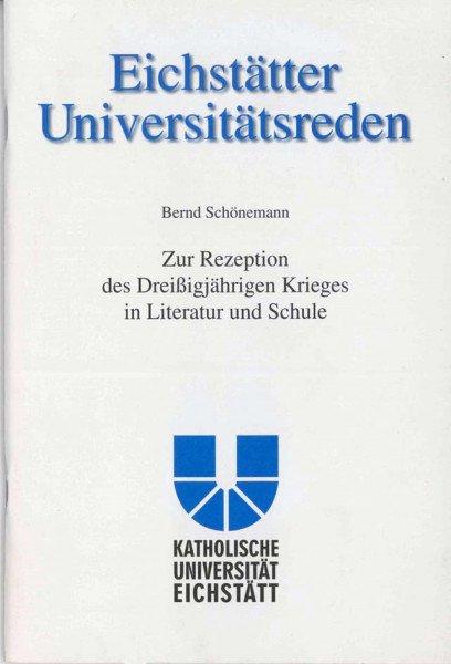 Band 104 - Bernd Schönemann - Zur Rezeption des Dreißigjährigen Krieges