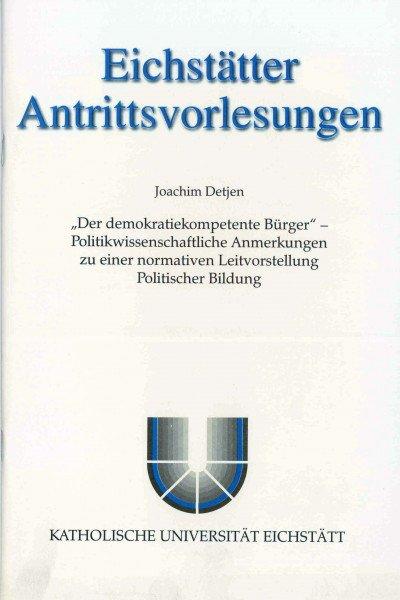 AV Band 3 - Joachim Detjen - Der demokratiekompetente Bürger