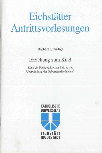 AV Band 12 - Barbara Staudigl - Erziehung zum Kind