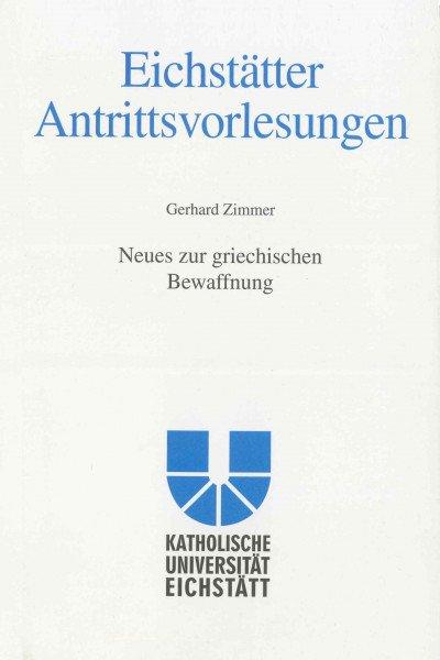 AV Band 8 - Gerhard Zimmer - Neues zur griechischen Bewaffnung